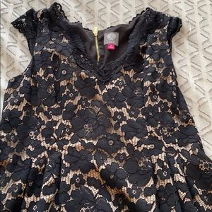 Lace Black and Gold Vince Camuto dress